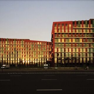 Bank székház hővédelme ablakfóliával